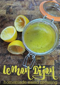 This homemade Lemon Dijon with spicy mustard is one of my favorite salad dressings and it's so easy to make! It also doubles as a marinade.