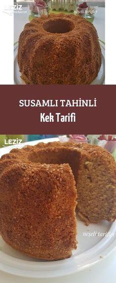 10 Minuets : Sesame Taste of Tahini Cake Tahini, Eggs And Mushrooms, Stuffed Mushrooms, Sesame Cake Recipe, Turkish Recipes, Herbalism, Cake Recipes, Bakery, Gourmet