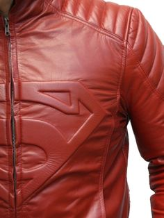 Super Man Red Leather Jackets - men's fashion style