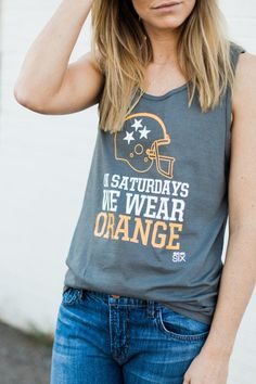 On Saturday's We Wear Orange Tank University of Tennessee  Game day apparel for women Volunteers