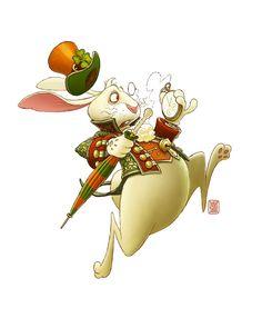 Colored White Rabbit