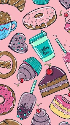 Phone background perfect for those with a sweet tooth! – We Heart It Phone background perfect for those with a sweet tooth! Phone background perfect for those with a sweet tooth! Cute Food Wallpaper, Cupcakes Wallpaper, Kawaii Wallpaper, Pink Wallpaper, Galaxy Wallpaper, Disney Wallpaper, Pattern Wallpaper, Heart Wallpaper, Aztec Wallpaper