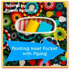 Sew a Floating Inset Pocket with Piping with this free sewing tutorial
