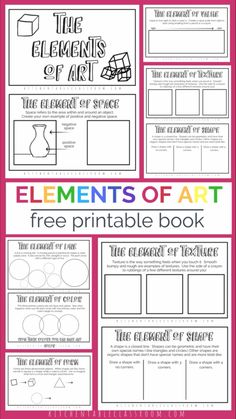 Art Education 619033911260939876 - Introduce the elements of art for kids with this simple printable book. Start with this elements of art printable then connect with over free art lessons! Elements Of Art Space, Formal Elements Of Art, Elements Of Design, Space In Art, Art Lessons For Kids, Art Lessons Elementary, Color Art Lessons, Visual Art Lessons, Drawing Classes For Kids