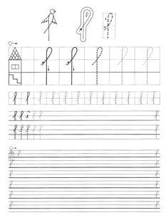 Albumarchívum Handwriting Worksheets, Tracing Worksheets, Preschool Worksheets, Pre Writing, Home Learning, Toddler Preschool, Motor Skills, Sheet Music, Alphabet