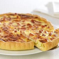 L'authentique tarte aux poireaux, lardons et Fromage à la Crème Elle&Vire