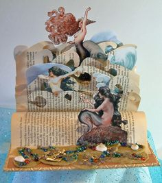 Artfully Musing: Frolicking in the Sea – Altered Book