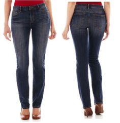 47b36f616f6fd Liz Claiborne womens jeans classic fit straight leg lonestar wash size 16  NEW 19.99 http