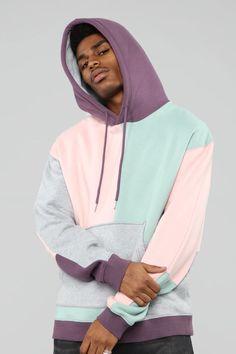 Apr 2020 - Color Block Hoodie - Pink/Combo – Fashion Nova Fashion Mode, Look Fashion, Teen Fashion, Fashion Outfits, Fashion Edgy, Fashion Fall, Fashion Trends, Sweat Cool, Stylish Hoodies