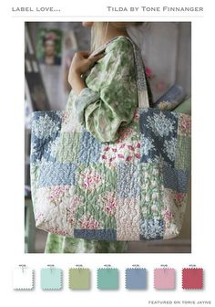 Patchwork bag - Tilda fabrics - Spring Lake 2015 @ toriejayne