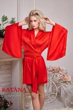64aac25e01 Red Robe Red Satin Robe Satin Robe Bridesmaids Red Silk Kimono Robe