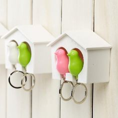 Bird Lovers Keychain Couple Birds Key chain with whistle Birdhouse keyring Home Wall key Bird Holder hook Key Ring Gifts Garden Shop, Home And Garden, Sparrow Nest, Birdhouse Designs, Cute Fonts, Cheap Wall Stickers, Shop Lighting, Wall Hooks, Bird Houses