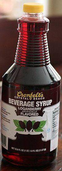 Cronfelt's Loganberry Syrup. Buffalo, NY