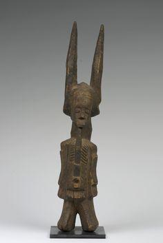 Nigeria; Igbo peoples, Ikenga (shrine figure) Related to Ikenga (shrine figure). Igbo peoples (Nigeria). c. 19th to 20th century C.E. Wood.