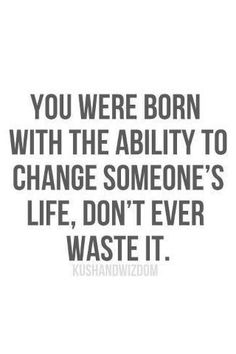 True story. Hopefully for the better. :)