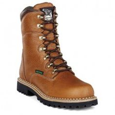 Men's Work Boots -Georgia Renegades Waterproof Steel Toe Work Boots from Lehigh Outfitters Safety Toe Boots, Georgia Boots, Steel Toe Work Boots, Coffee Colour, Hard Wear, Goodyear Welt, Leather Collar, Hiking Boots, Footwear