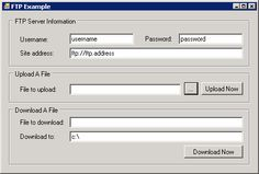Use C# to upload and download files from an FTP server