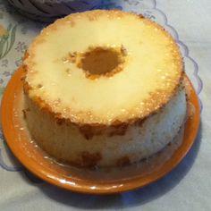 Homemade Angel Food Cake with Lemon Glaze