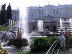 Peterhof Fountains Video Studio, Bratislava, Touring, Waterfall, Mansions, House Styles, World, Outdoor, Youtube