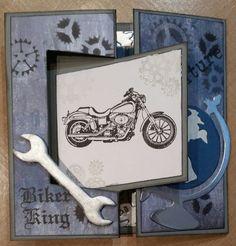 Biker King Scrapbook Cards, Scrapbooking, Art Blog, Biker, Scrapbooks, Notebooks