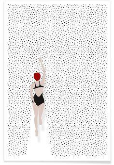 Point úszók Premium Poster Amy & Kurt | JUNIQE