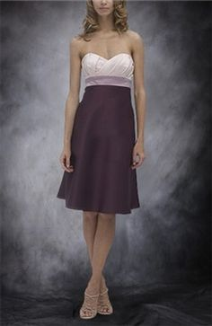 A-line Knee-length Satin Bridesmaid Dress with Sweetheart Neckline jacket or under top? I like two tone with white