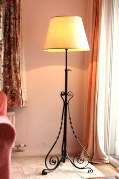 Wrought Iron Room Lamp 1980s Lamp