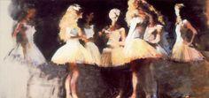 """""""Phantom Dancers"""" Phantom of the Opera painting by Robert Heindel"""