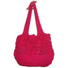 crochet bag>Handmade Crochet Bright Pink Summer Beach Purse Bag by earflaphats, $77.00