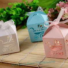 http://item.taobao.com/item.htm?id=532992211162 Baby Carriage Favor Box BETER-HH046 Birthday Decorations    Paper. Simple assembly required. 5 x 5 x 8 cm ©Beter Gifts Boxes are shipped flat, some minor assembly required.
