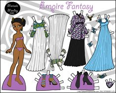 Fantasy paper doll in color inspired by the renaissance for printing, cutting and playing.