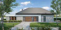 Projekt domu HomeKONCEPT-26 | HomeKONCEPT Village House Design, Village Houses, Sims House, House 2, Front Entry, Modern House Design, Planer, Building A House, House Plans