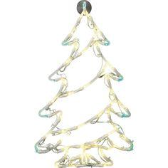 Fenster-Dekoration Weihnachtsbaum LED Polarlite LDE-02-006 Weiß, Grün