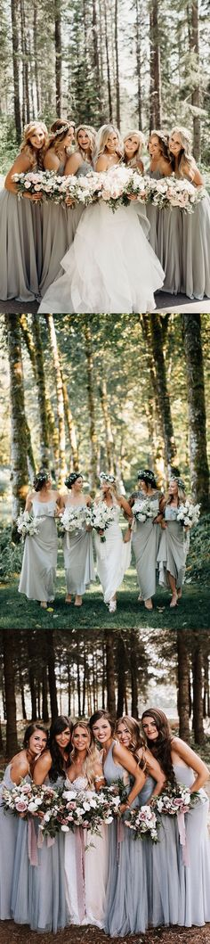 rustic forest woodland bridesmaid dresses  -  rustic forest woodland wedding photo ideas #weddings #weddingphotos #weddingideas #forest #wedding #deerpearlflowers
