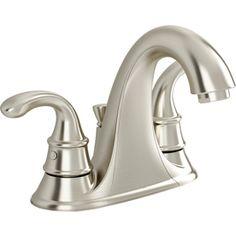 American Standard Harrison Satin Nickel 2-Handle 4-in Centerset WaterSense Bathroom Sink Faucet (Drain Included). lowes