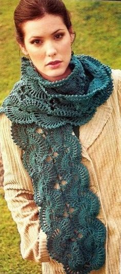 Flange Scarf free crochet graph pattern