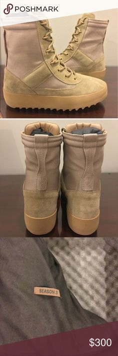 YEEZY season 3 boots ! Authentic Yeezy season 3 military boots. Worn a few times. Brand new with original packaging and box. Yeezy Shoes