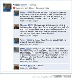 Facebook Breakup, love this...a mama bear's gotta stick up for her cub!