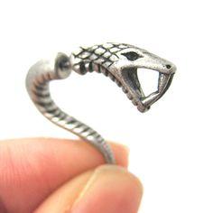 Realistic Cobra Rattlesnake Shaped Fake Gauge by uniquefakegauges