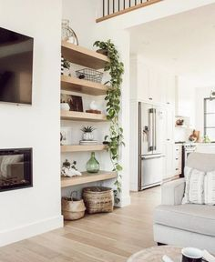 Home Living Room, Living Room Designs, Living Room Decor, Living Spaces, Living Room Shelves, Living Room Interior, Living Room White Walls, Living Room Colors, Cozy Living Rooms