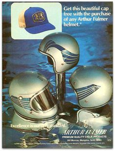 Arthur Fulmer Motorcycle Helmet Magazine Ad by Inwiththeincrowd