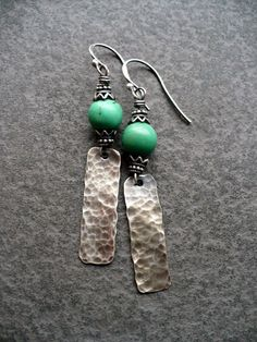 JEZABELhandmade sterling and turquoise by livewirejewelrysb, $52.00