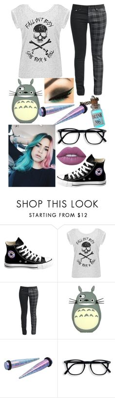 """""""Untitled #364"""" by rainy-kat on Polyvore featuring Converse and Lime Crime"""