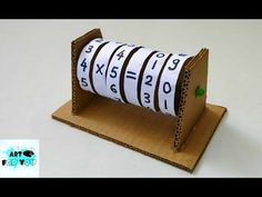 Kids Discover How to make Maths Learning Machine from Cardboard Math Activities For Kids, Math For Kids, Math Games, Crafts For Kids, Teaching Learning Material, Teaching Aids, Kids Learning, Teaching Math, Math Crafts