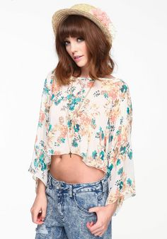 Crop Floral Blouse $34 | click the picture for more clothes like this!