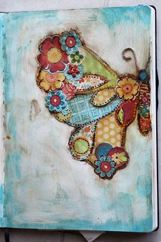 Cool idea for a journal or scrapbook cover.