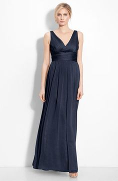 the bridesmaid dresses.except we're doing navy.ML Monique Lhuillier Bridesmaids Sleeveless Ruched Chiffon Dress (Nordstrom Exclusive) available at Black Evening Dresses, Evening Gowns, Formal Dresses, Formal Wear, Monique Lhuillier Bridesmaids, Mom Dress, Bridesmaid Dresses, Wedding Dresses, Bride Dresses