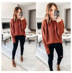 Casual Winter Outfits, Casual Fall Outfits, Trendy Outfits, Fashion Outfits, Vest Outfits, Casual Fall Fashion, Cute Outfits For Fall, Fall Outfit Ideas, Sweater And Jeans Outfit