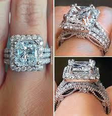 double halo radiant cut engagement ring - Google Search
