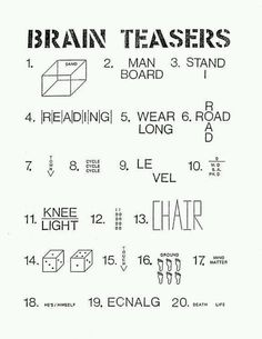 Time fillers | Brain Teasers